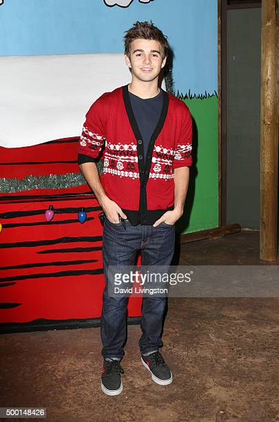 Actor Jack Griffo attends Knott's Berry Farm's Countdown To Christmas And Snoopy's Merriest Tree Lighting at Knott's Berry Farm on December 5 2015 in...