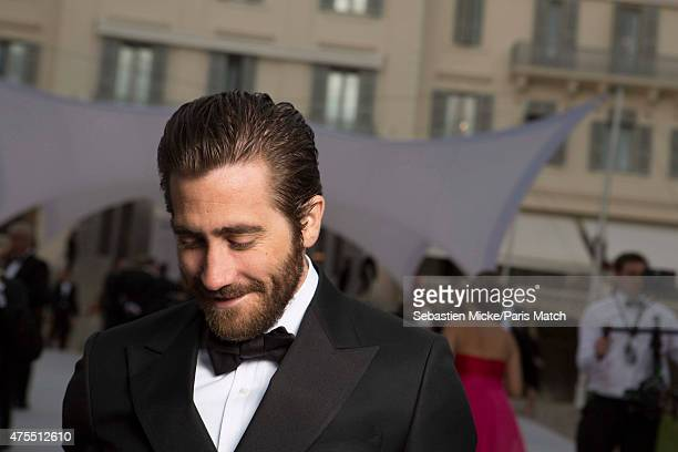 Actor Jack Gyllenhaal attends the 22nd Gala for AmFar Cinema Against AIDS Photographed for Paris Match at the CapEdenRoc hotel on May 21 2015 in Cap...
