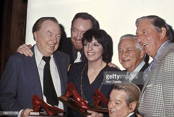 Actor Jack Haley producer Jack Haley Jr actress/singer Liza Minnelli producer Mervyn LeRoy actor Ray Bolger and actor Billy Curtis attend the Center...