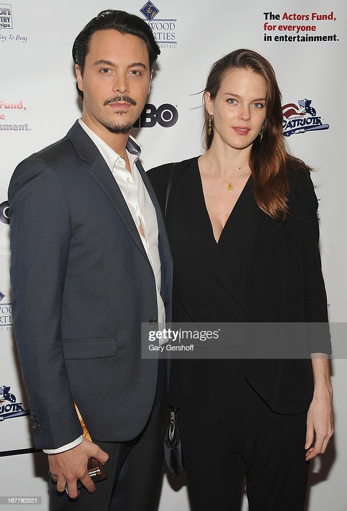 Actor Jack Huston (L) and model Shannan Click attend the 2013 Actors Fund Gala at the Marriott Marquis Hotel on April 29, 2013 in New York City.