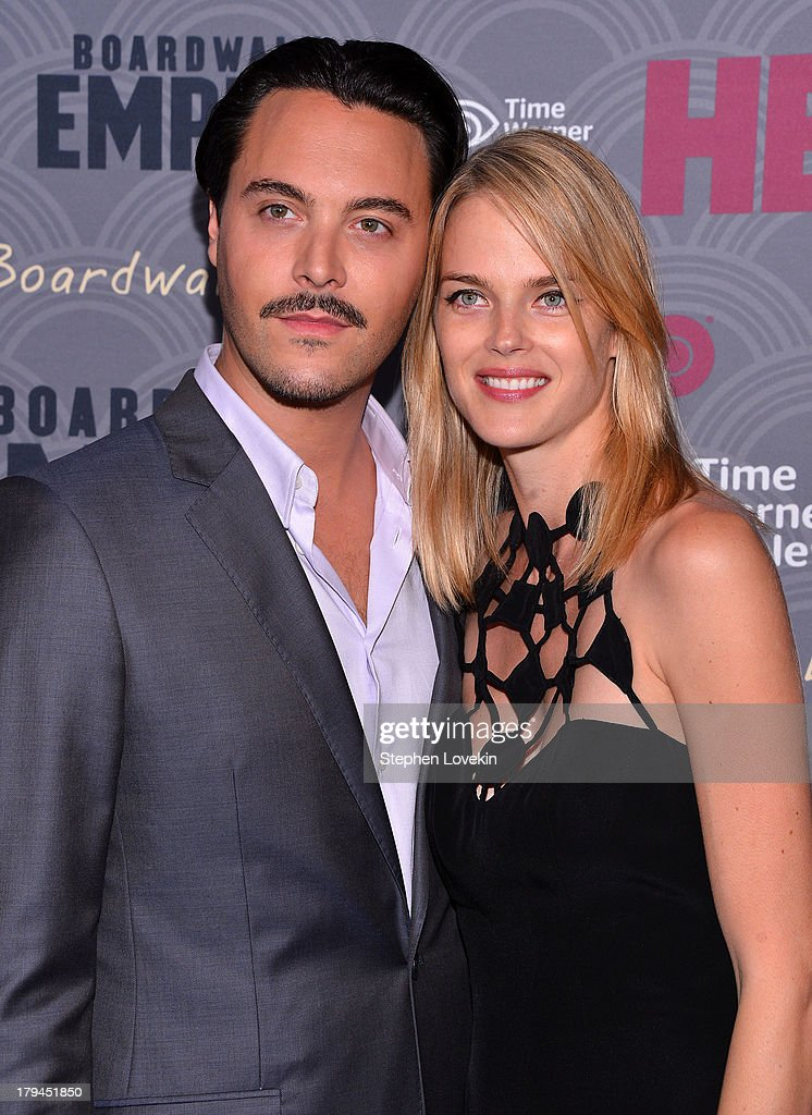 Actor Jack Huston and model Shannan Click attend the 'Boardwalk Empire' season four New York premiere at Ziegfeld Theater on September 3 2013 in New...