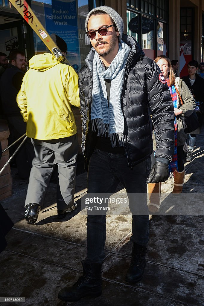 Actor Jack Huston leaves the Wireimage portrait studio on January 18, 2013 in Park City, Utah.