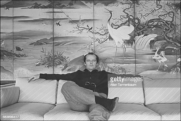 Actor Jack Nicholson at the Carlisle Hotel New York New York March 13 1981