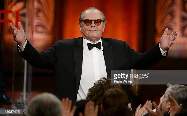 Actor Jack Nicholson attends the 40th AFI Life Achievement Award honoring Shirley MacLaine held at Sony Pictures Studios on June 7 2012 in Culver...