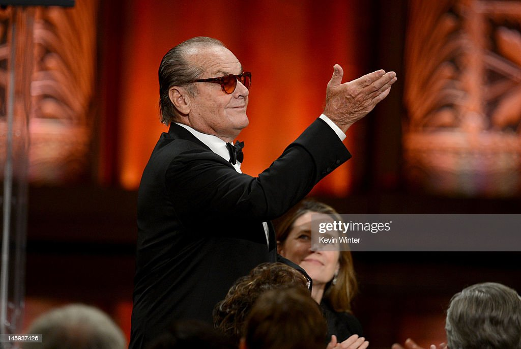 Actor <a gi-track='captionPersonalityLinkClicked' href=/galleries/search?phrase=Jack+Nicholson&family=editorial&specificpeople=91177 ng-click='$event.stopPropagation()'>Jack Nicholson</a> attends the 40th AFI Life Achievement Award honoring Shirley MacLaine held at Sony Pictures Studios on June 7, 2012 in Culver City, California. The AFI Life Achievement Award tribute to Shirley MacLaine will premiere on TV Land on Saturday, June 24 at 9PM ET/PST.