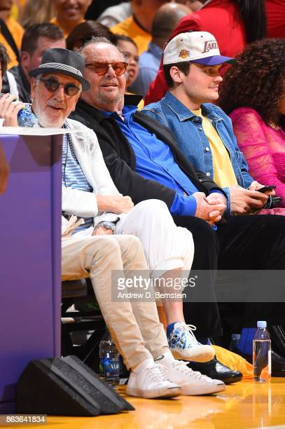 Actor Jack Nicholson attends the game between the LA Clippers and the Los Angeles Lakers on October 19 2017 at STAPLES Center in Los Angeles...