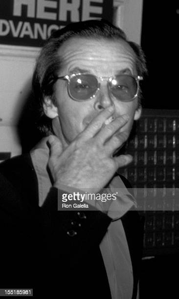 Actor Jack Nicholson attends the opening of Lily Tomlin 'Appearing Nightly' on January 31 1978 at the Huntington Hartford Theater in Hollywood...