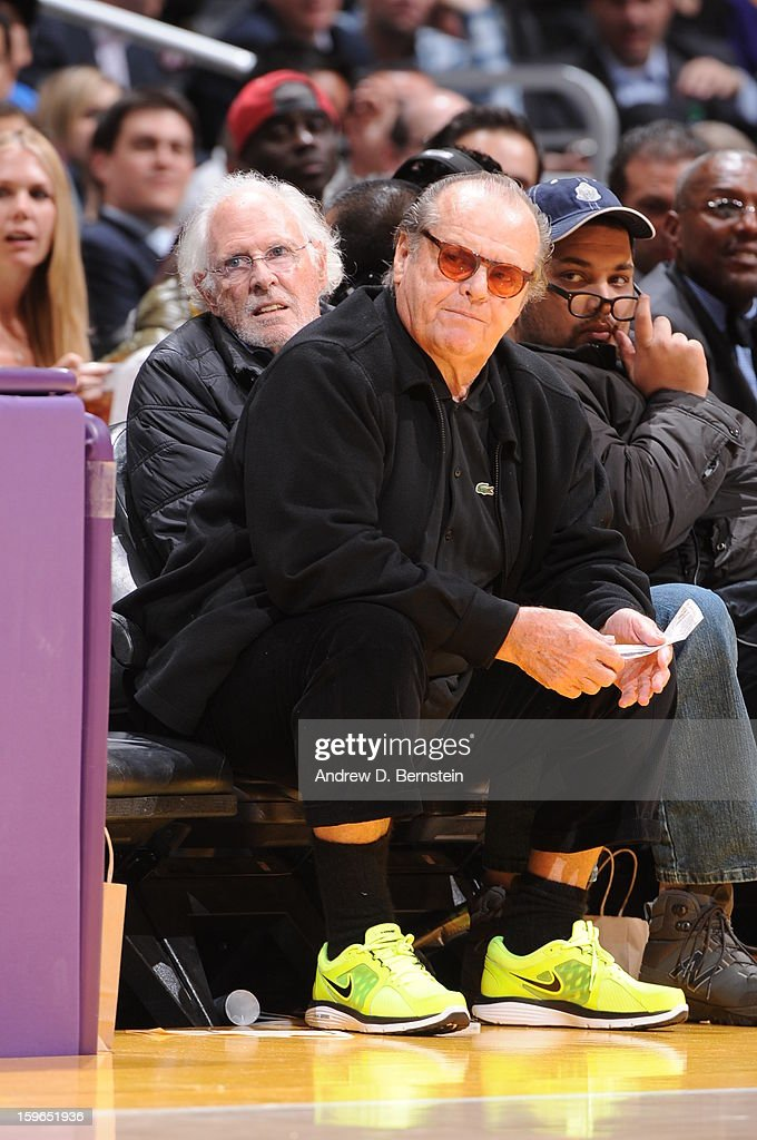 Actor Jack Nicholson looks on during a game between the Miami Heat and the Los Angeles Lakers at Staples Center on January 15, 2013 in Los Angeles, California.