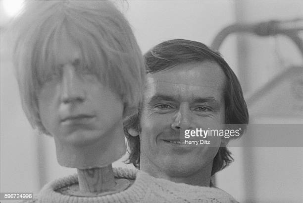 Actor Jack Nicholson stands with a mannequin Nicholson wrote the film Head which stars The Monkees