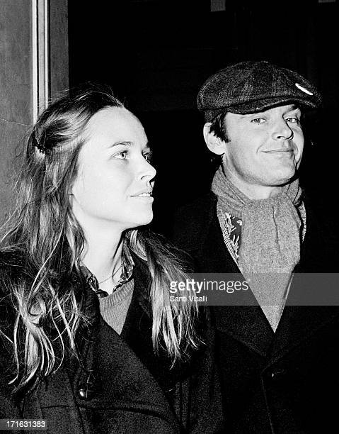 Actor Jack Nicholson with Michelle Philips posing for a photo on March 141972 in New York New York