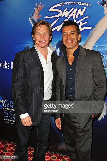 Actor Jack Noseworthy and choreographer Sergio Trujillo attend 'Matthew Bourne's Swan Lake' gala performance at New York City Center on October 13...