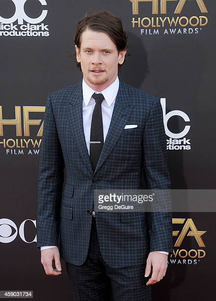 Actor Jack O'Connell arrives at the 18th Annual Hollywood Film Awards at The Palladium on November 14 2014 in Hollywood California