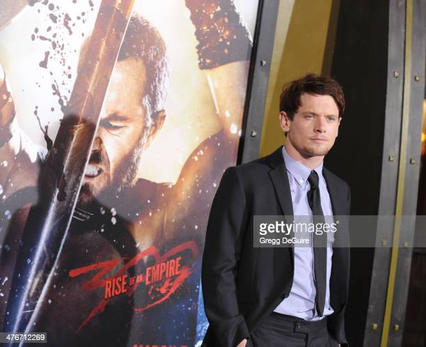 Actor Jack O'Connell arrives at the '300 Rise Of An Empire' Los Angeles premiere at TCL Chinese Theatre on March 4 2014 in Hollywood California