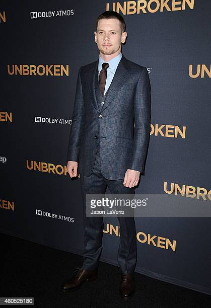 Actor Jack O'Connell attends the premiere of 'Unbroken' at TCL Chinese Theatre IMAX on December 15 2014 in Hollywood California