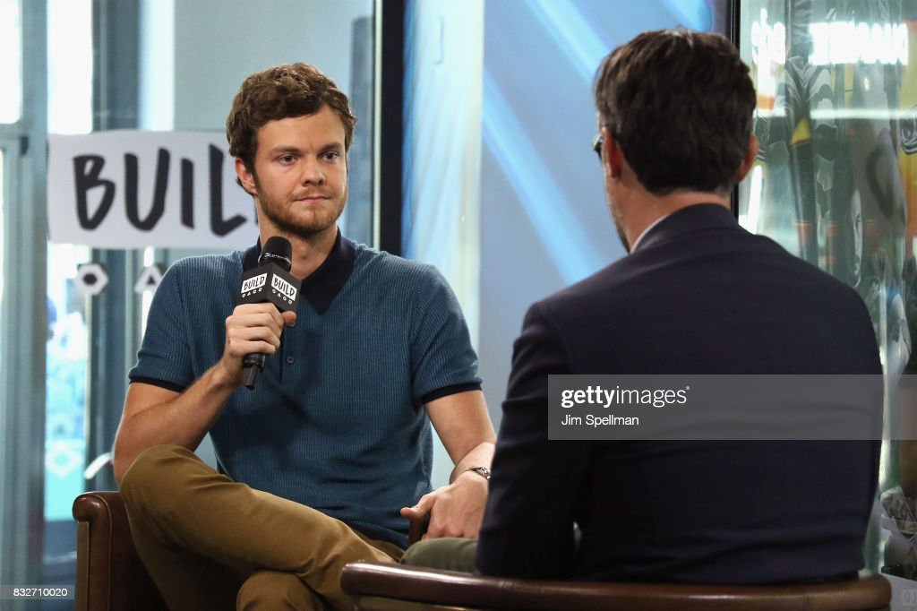 Actor Jack Quaid and moderator Ricky Camilleri attend Build to discuss his new film 'Logan Lucky' at Build Studio on August 16, 2017 in New York City.