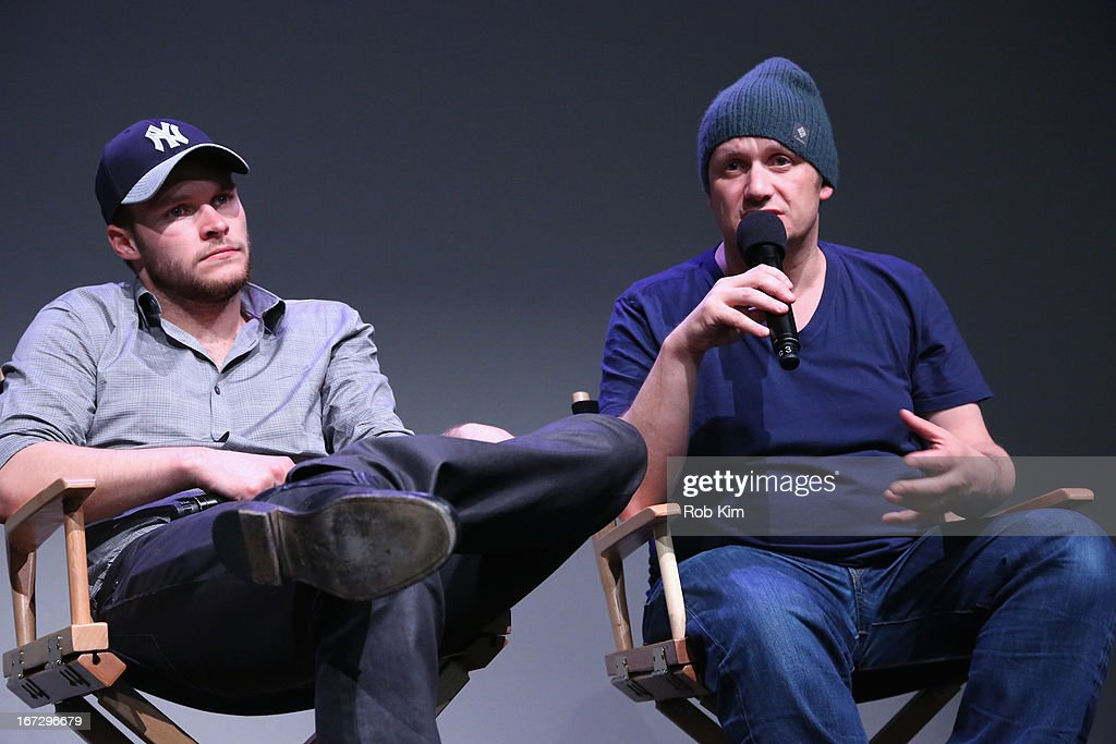 Actor Jack Reynor and director Lenny Abrahamson attend Meet the Filmmaker: 'What Richard Did' during the 2013 Tribeca Film Festival at the Apple Store Soho on April 23, 2013 in New York City.