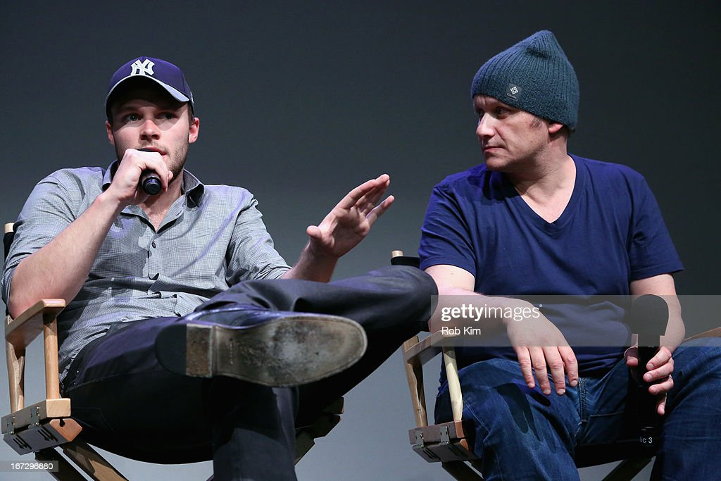 Actor <a gi-track='captionPersonalityLinkClicked' href=/galleries/search?phrase=Jack+Reynor&family=editorial&specificpeople=10130487 ng-click='$event.stopPropagation()'>Jack Reynor</a> and director Lenny Abrahamson attend Meet the Filmmaker: 'What Richard Did' during the 2013 Tribeca Film Festival at the Apple Store Soho on April 23, 2013 in New York City.