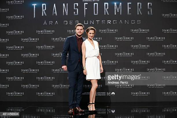 Actor Jack Reynor and his fianee Madeline Mulqueen attend the european premiere of 'Transformers Age of Extinction' at Sony Centre on June 29 2014 in...