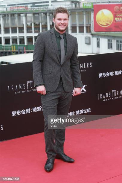 Actor Jack Reynor arrives at the red carpet of 'Transformers Age of Extinction' worldwide premiere at Hong Kong Cultural Centre on June 19 2014 in...