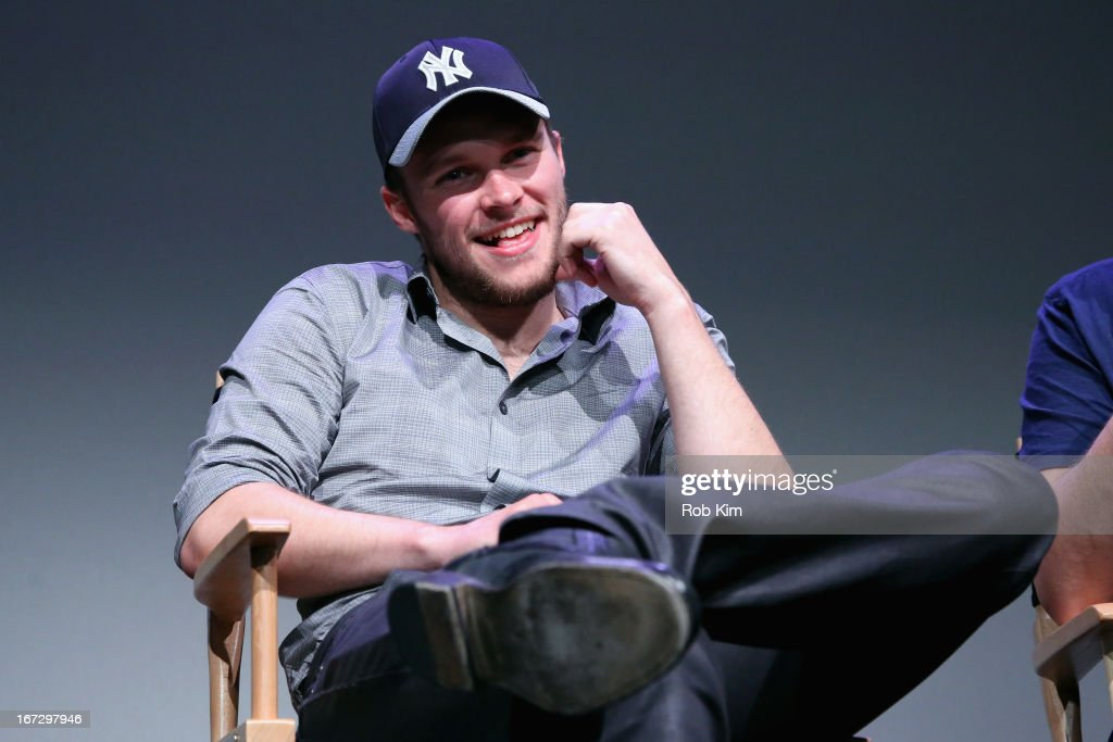 Actor <a gi-track='captionPersonalityLinkClicked' href=/galleries/search?phrase=Jack+Reynor&family=editorial&specificpeople=10130487 ng-click='$event.stopPropagation()'>Jack Reynor</a> attends Meet the Filmmaker: 'What Richard Did' during the 2013 Tribeca Film Festival at the Apple Store Soho on April 23, 2013 in New York City.