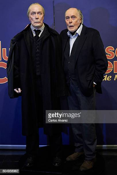 Actor Jack Taylor inaugurates the Dr Knox wax figure at the Madrid Wax Museum on January 14 2016 in Madrid Spain