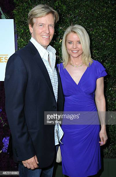Actor Jack Wagner and wife Kristina Wagner attend the 2015 Summer TCA Tour Hallmark Channel and Hallmark Movies And Mysteries on July 29 2015 in...