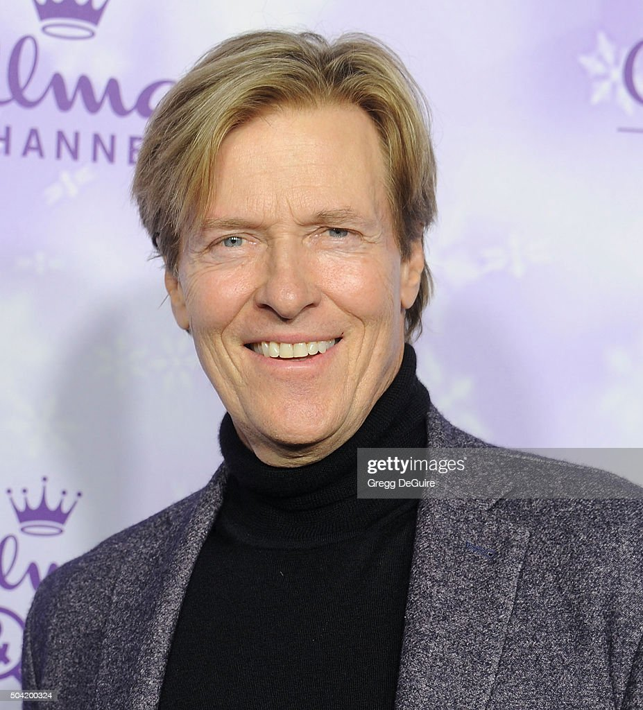 Actor Jack Wagner arrives at the Hallmark Channel and Hallmark Movies and Mysteries Winter 2016 TCA Press Tour at Tournament House on January 8, 2016 in Pasadena, California.