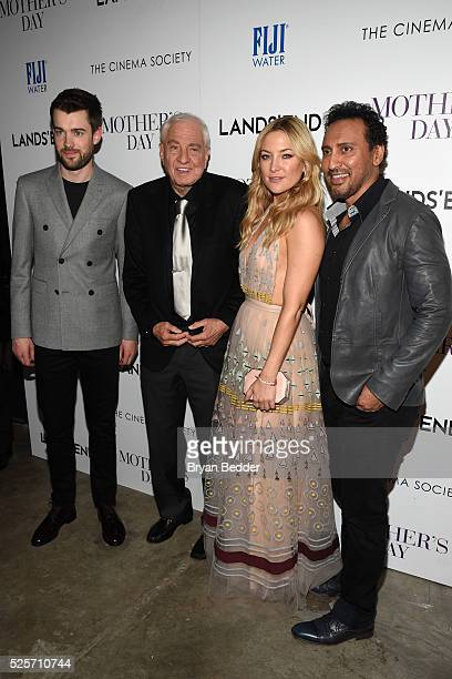 Actor Jack Whitehall director Garry Marshall actress Kate Hudson and actor Aasif Mandvi attend the Cinema Society with Lands' End FIJI Water host a...
