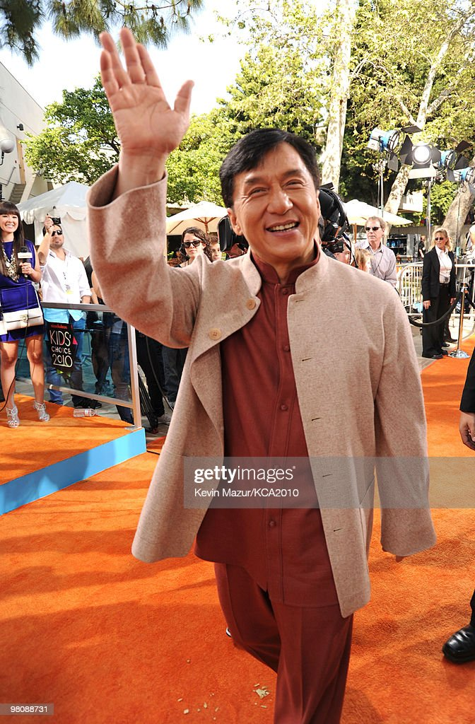 Actor Jackie Chan arrives at Nickelodeon's 23rd Annual Kids' Choice Awards held at UCLA's Pauley Pavilion on March 27, 2010 in Los Angeles, California.