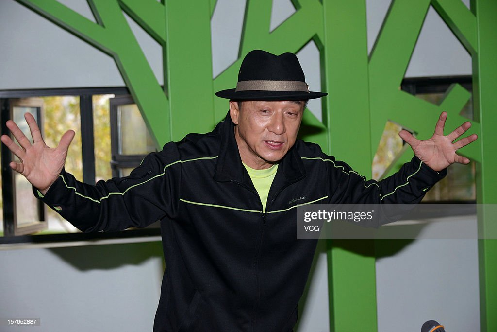 Actor <a gi-track='captionPersonalityLinkClicked' href=/galleries/search?phrase=Jackie+Chan&family=editorial&specificpeople=171455 ng-click='$event.stopPropagation()'>Jackie Chan</a> attends a press conference for 'Chinese Zodiac' at <a gi-track='captionPersonalityLinkClicked' href=/galleries/search?phrase=Jackie+Chan&family=editorial&specificpeople=171455 ng-click='$event.stopPropagation()'>Jackie Chan</a> Museum on December 5, 2012 in Shanghai, China.