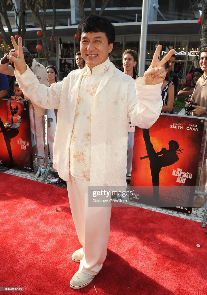 Actor Jackie Chan attends a special screening of Columbia Pictures' The Karate Kid at Regal South Beach on May 24, 2010 in Miami, Florida.