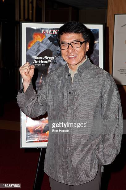 Actor Jackie Chan attends 'An Academy Salute to Jackie Chan' at AMPAS Samuel Goldwyn Theater on June 3 2013 in Beverly Hills California