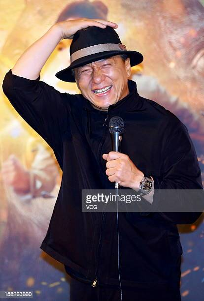 Actor Jackie Chan attends 'Chinese Zodiac' premiere at Yaolai International Cinema on December 11 2012 in Beijing China