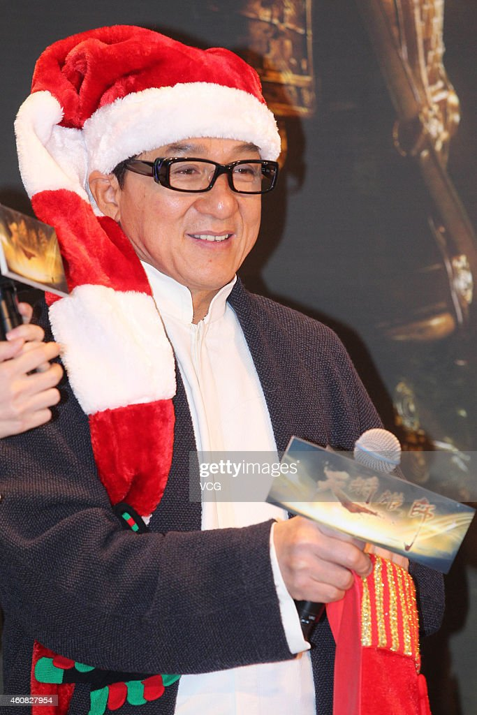 Actor Jackie Chan attends press conference of 'Dragon Blade' on December 25, 2014 in Beijing, China.