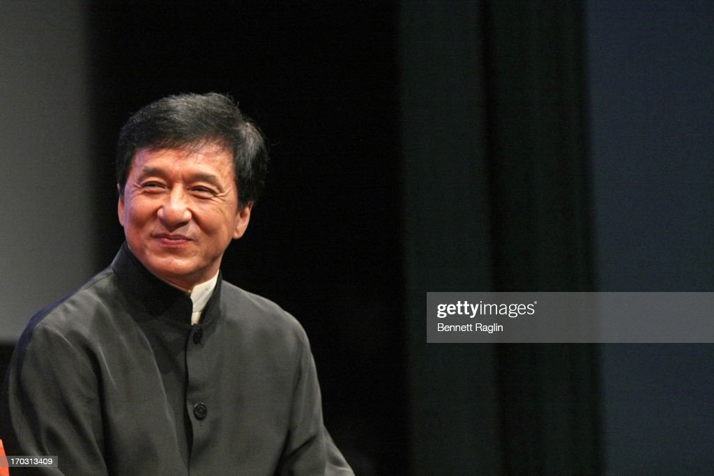Actor <a gi-track='captionPersonalityLinkClicked' href=/galleries/search?phrase=Jackie+Chan&family=editorial&specificpeople=171455 ng-click='$event.stopPropagation()'>Jackie Chan</a> attends the 2013 New York Asian Film Festival Star Asia Lifetime Achievement Award Ceremony at Walter Reade Theater on June 10, 2013 in New York City.
