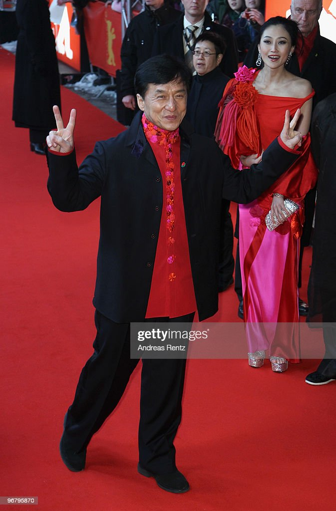 Actor Jackie Chan attends the 'Da Bing Xiao Jiang' - Premiere during day seven of the 60th Berlin International Film Festival at the Friedrichstadtpalast on February 17, 2010 in Berlin, Germany.