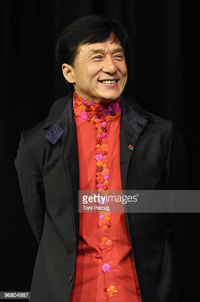 Actor Jackie Chan attends the 'Da Bing Xiao Jiang' premiere during day seven of the 60th Berlin International Film Festival at the...