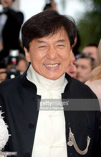 Actor Jackie Chan attends the 'De Rouille et D'os' Premiere during the 65th Annual Cannes Film Festival at Palais des Festivals on May 17 2012 in...