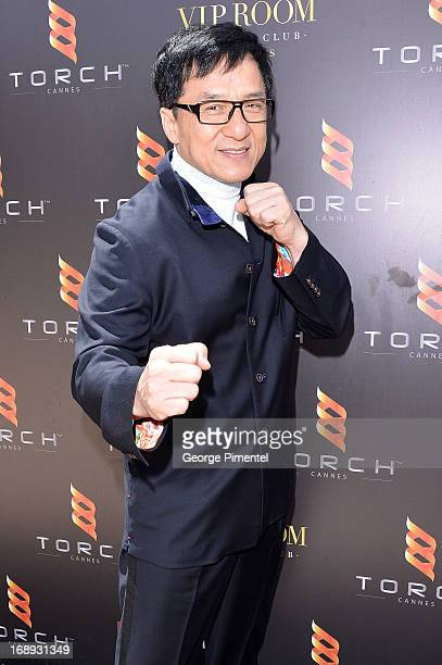 Actor Jackie Chan attends the 'Emperor' press junket with Jackie Chan and Fan Bingbing during The 66th Annual Cannes Film Festival at Torch at...