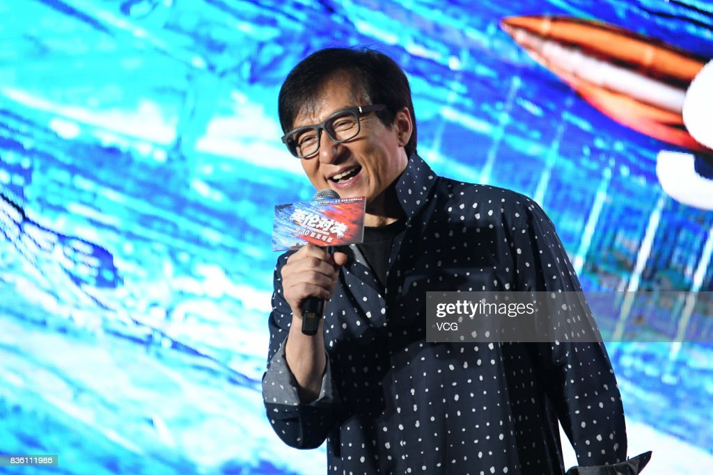 Actor Jackie Chan attends 'The Foreigner' press conference on August 21, 2017 in Beijing, China.