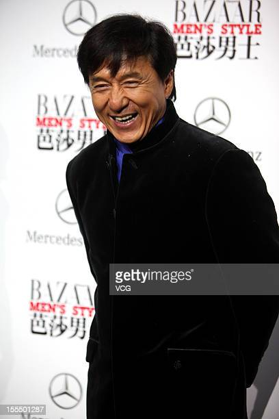 Actor Jackie Chan attends the People of the Year Award 2012 by BAZAAR Men at DPARK Tank Zone on November 3 2012 in Beijing China