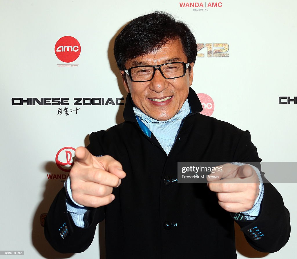 Actor <a gi-track='captionPersonalityLinkClicked' href=/galleries/search?phrase=Jackie+Chan&family=editorial&specificpeople=171455 ng-click='$event.stopPropagation()'>Jackie Chan</a> attends the premiere of Wanda and AMC releasing's 'Chinese Zodiac' at the AMC Century City 15 theater on October 16, 2013 in Century City, California.