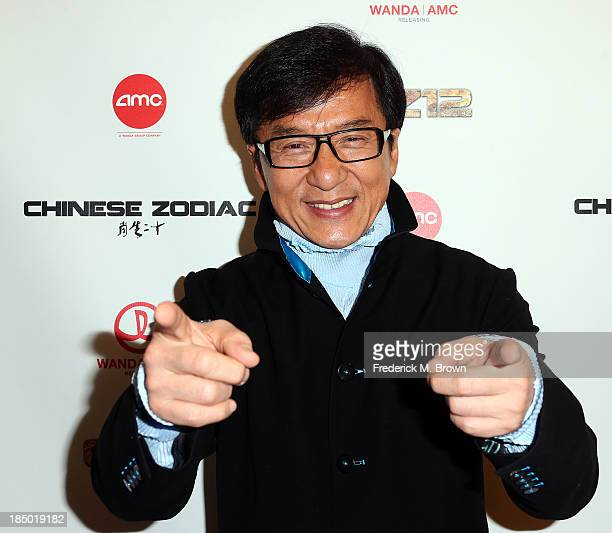 Actor Jackie Chan attends the premiere of Wanda and AMC releasing's 'Chinese Zodiac' at the AMC Century City 15 theater on October 16 2013 in Century...