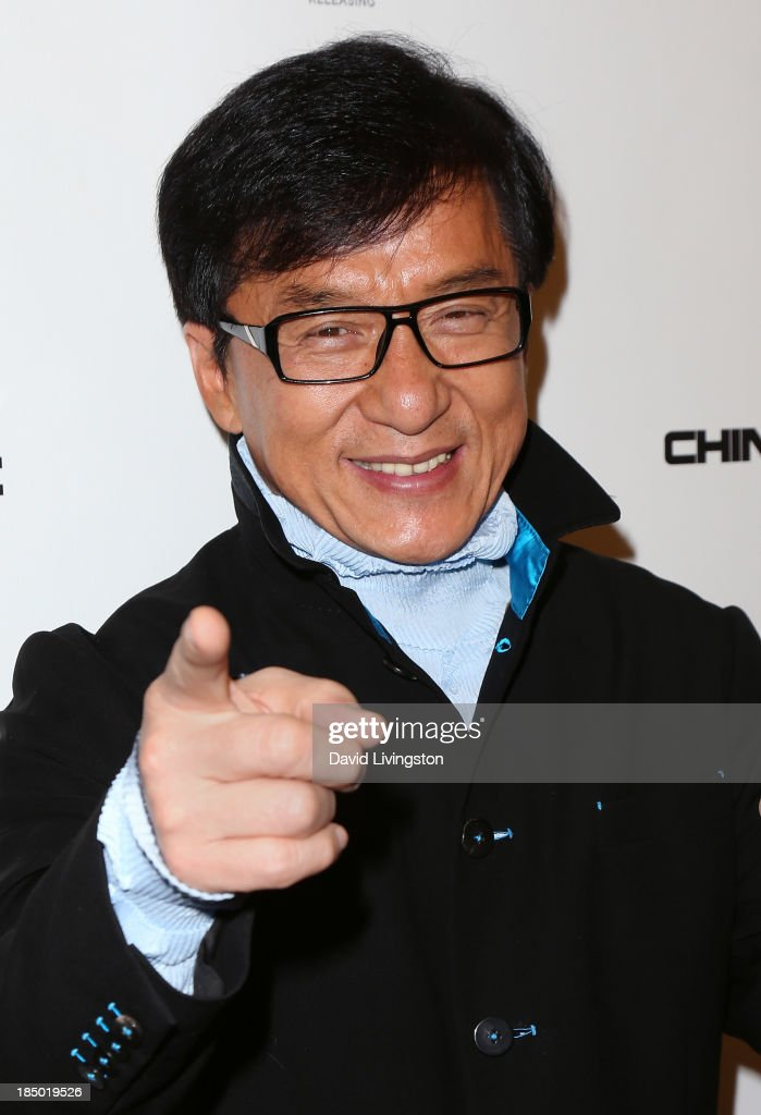 Actor <a gi-track='captionPersonalityLinkClicked' href=/galleries/search?phrase=Jackie+Chan&family=editorial&specificpeople=171455 ng-click='$event.stopPropagation()'>Jackie Chan</a> attends the premiere of Wanda and AMC Releasing's 'Chinese Zodiac' at AMC Century City 15 theater on October 16, 2013 in Century City, California.