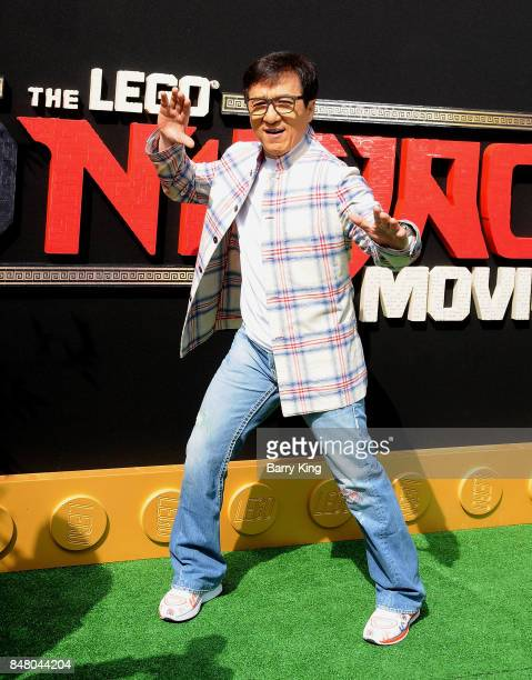 Actor Jackie Chan attends the Premiere of Warner Bros Pictures' 'The LEGO Ninjago Movie' at Regency Village Theatre on September 16 2017 in Westwood...