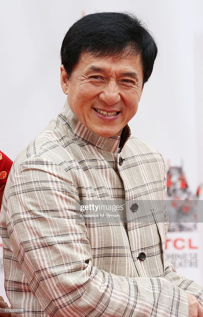 Actor <a gi-track='captionPersonalityLinkClicked' href=/galleries/search?phrase=Jackie+Chan&family=editorial&specificpeople=171455 ng-click='$event.stopPropagation()'>Jackie Chan</a> during the <a gi-track='captionPersonalityLinkClicked' href=/galleries/search?phrase=Jackie+Chan&family=editorial&specificpeople=171455 ng-click='$event.stopPropagation()'>Jackie Chan</a> Hand and Foot Print Ceremony at the TCL Chinese Theatre on June 6, 2013 in Hollywood, California.
