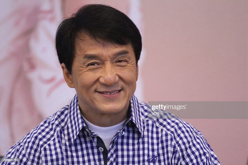 Actor <a gi-track='captionPersonalityLinkClicked' href=/galleries/search?phrase=Jackie+Chan&family=editorial&specificpeople=171455 ng-click='$event.stopPropagation()'>Jackie Chan</a> speaks during the release of his autobiography at Tsinghua University on April 7, 2015 in Beijing, China.