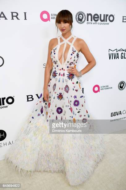 Actor Jackie Cruz attends the 25th Annual Elton John AIDS Foundation's Academy Awards Viewing Party at The City of West Hollywood Park on February 26...