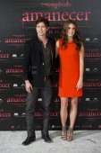 Actor Jackson Rathbone and actress Nikki Reed attend 'The Twilight Saga Breaking Dawn Part 1' photocall at Villamagna Hotel on October 28 2011 in...