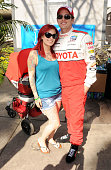 Actor Jackson Rathbone and Sheila Hafsadi attend the 37th Annual Toyota Pro/Celebrity Race on April 20 2013 in Long Beach California